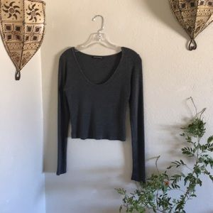 🐭Brandy soft cotton crop sweater